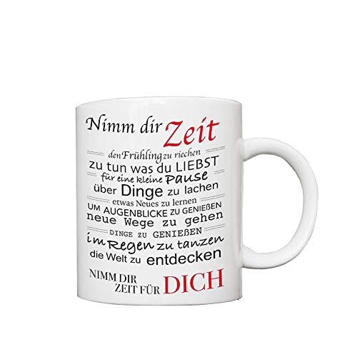 Taza de cerámica divertida para café o té, con texto en inglés 'Take Your Time', impresa en ambos lados, para sus hombres, mujeres, oficina, papá, mamá, niños, regalo de cumpleaños personalizado