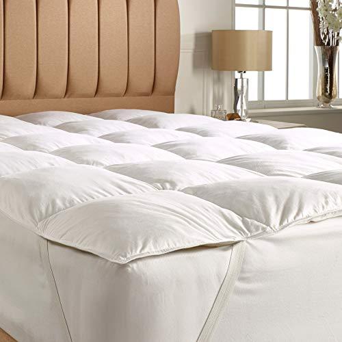 EFFETTO CASA Topper Materasso (Pillow Top) Matrimoniale su Misura di Alta qualità 100% Piumino Produzione Made in Italy