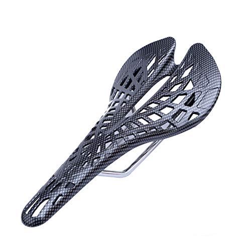 Lood Sillín de bicicleta, cojín de suspensión integrado, cómodo y duradero (Spider Carbon)