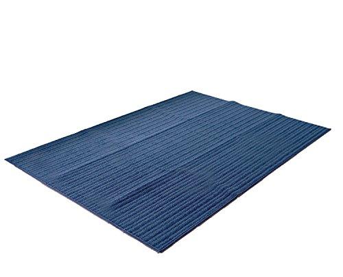 ラグ ナチュール(130×185cm) ブルー スミノエ 洗える ナチュラル 春 夏 おしゃれ リビング 北欧 塩系 カフェ風 日本製 国産