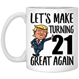 Happy 21st Birthday Gifts for Boys Girls Turning 21 Year Old Born in 1998 Coffee Mug Funny White 11oz
