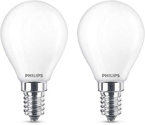Philips LEDclassic Lampe ersetzt 40W, E14, warmweiß (2700 Kelvin), 470 Lumen, Tropfen, Doppelpack