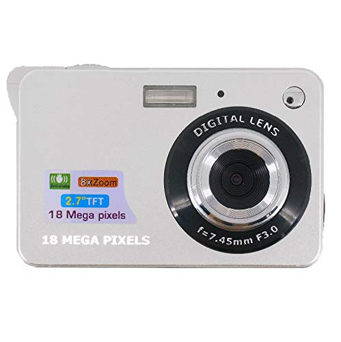 Great Features Of YMNL Digital Camera, 2.7 inch TFT LCD 8X Digital Zoom 18 Million Pixels 720P Video...
