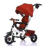 Triciclo for niños, Giro del Asiento de Bicicleta Triciclo for niños Vehículos for niños Inflable Gratuito Edad de Uso: 8 Meses a 5 años A++ ( Color : Red )