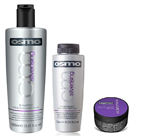 Osmo Silverising Shampoo 1000ml, Conditioner 300ml en Violet Masker 100ml
