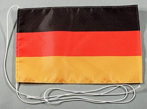 Buddel Bini Deutschland 15x25 cm Tischflagge in Profi - Qualität Tischfahne Autoflagge Bootsflagge Motorradflagge Mopedflagge