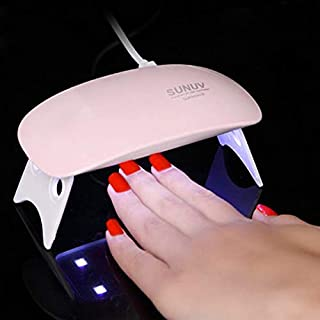 POKARI™ SUNmini 6W LED UV Nail Polish Drayer,Mini Foldable Nail Lamp,Nail Polish Dryer Curing Lamp Light Portable,Gel Based Nail Polish For All Kind Of Nail Paints(Multi Color)
