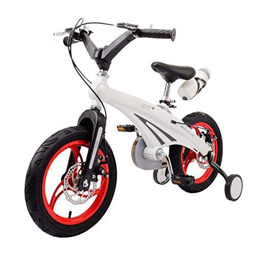 Kinderfahrrad 3-7 Jahre alt neutral Kind Doppelbremse Fahrrad 12/14/16 Zoll Anti-Rollkinderwagen mit Rad Mountainbike Training hsvbkwm (Color : White, Size : 16)