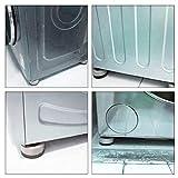 Kitchen-dream 4 STÜCKE Waschmaschine Fußpolster Anti Vibration Waschmaschine Füße Pad Anti Rutsch Gummi Fußpolster für Waschmaschinen und Trockner - 5