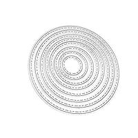 (ライチ) Lychee スクラップブッキング ダイス テンプレート かわいい形 縁どり ブッシュ 楕円 エンボス加工 ダイカット カットステンシル アルバム 紙カード作り DIY 装飾