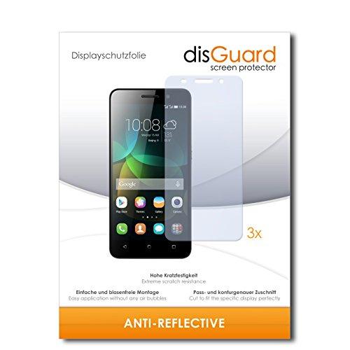 disGuard® Bildschirmschutzfolie [Anti-Reflex] kompatibel mit Huawei Honor 4c [3 Stück] Entspiegelnd, Matt, Antireflektierend, Extrem Kratzfest, Anti-Fingerabdruck - Panzerglas Folie, Schutzfolie