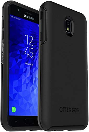 OtterBox Symmetry Series Case for Samsung Galaxy J7 (2018)/J7 2nd gen/J7 V 2nd gen/J7 Refine -Non Retail Packaging - Black