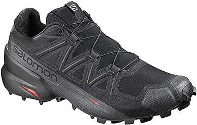 Salomon Men's Speedcross 5 Trail Running, Black/Black/Phantom, 13