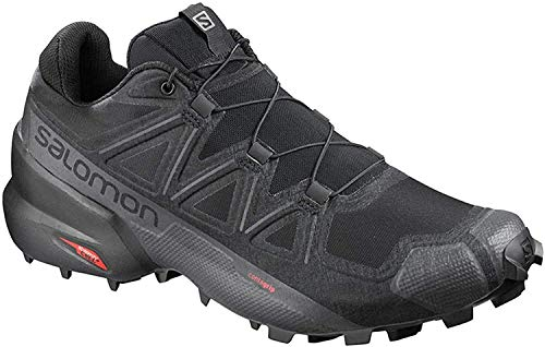 Salomon Men's Speedcross 5 Trail Running, Black/Black/Phantom, 13