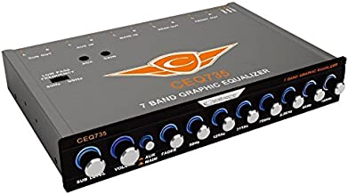 Cadence CEQ735 7 Band Graphic EQ 9V Line Driver/Aux in
