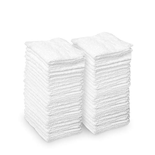 AIDEA Microfiber Cleaning Cloths White, Strong Water Absorption, Lint-Free, Scratch-Free,...