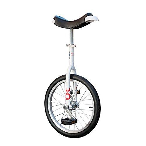 QU-AX 19009 Onlyone Einrad für Kinder und Anfänger 18\', weiß/schwarz (1 Stück)
