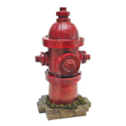 Design Toscano QL5468 Puppy Pee Post-Dog's Second Best Friend Fire Hydrant Statue, 8' Wx7 Dx14 H, Single