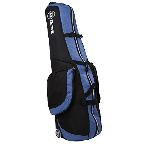 Ram FX Golf Travel Cover Deluxe Padded Wheeled Flight Bag Black/Blue