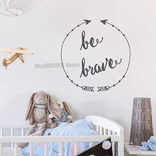Be brave-vinilo calcomanías de pared decoración del hogar mural de arte desmontable, adecuado para la sala de estar de los niños 71x75cm