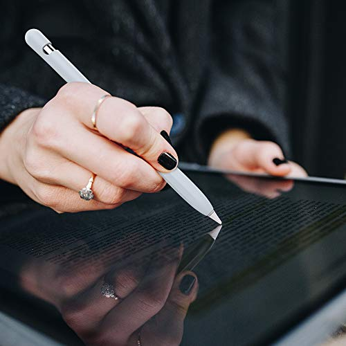 AHASTYLE Apple Pencil 1 Silikonhülle Ärmel Anti-Rutsch Schutzhülle Haut [Kabel Adapter Tether Hinzugefügt] Kompatibel mit Apple Pencil 1st Erzeugung (Hellblau)