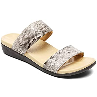 UTENAG Womens Arch Support Slides Double Buckle...