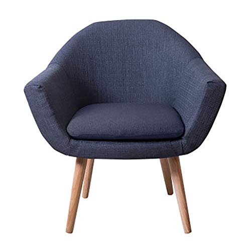 ZXL Girl Accent Chair Modern Linen Fabric Armchair Occasional Recliner Chair with Solid Wood Legs Upholstered Reception Chair Dining Living Room Bedroom Lounge Office Single Sofa Furniture