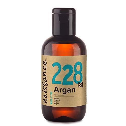 Naissance Aceite Vegetal de Argán de Marruecos n. º 228 – 100ml - Puro, natural, vegano, sin hexano y no OGM - Hidratación natural para el rostro, el cabello, la barba y las cutículas.