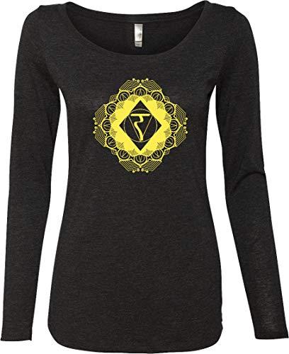 Yoga Clothing For You Diamond Manipura Ladies Lightweight Long Sleeve Shirt, Black Medium