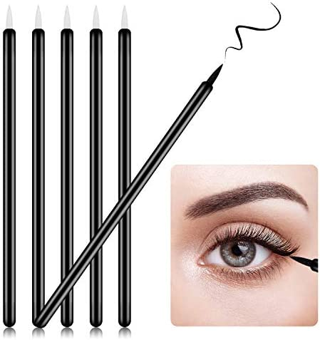 YAIKOAI 100pcs Disposable Eyeliner Brush Eyeliner Applicator Wands Lip Liner brushes Cosmetic product image