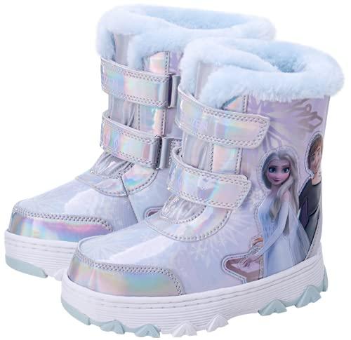 Disney Girls Frozen 2 Fur Lined Snow Boot (Toddler/Little Kid), Size 10 Toddler, Anna/Elsa