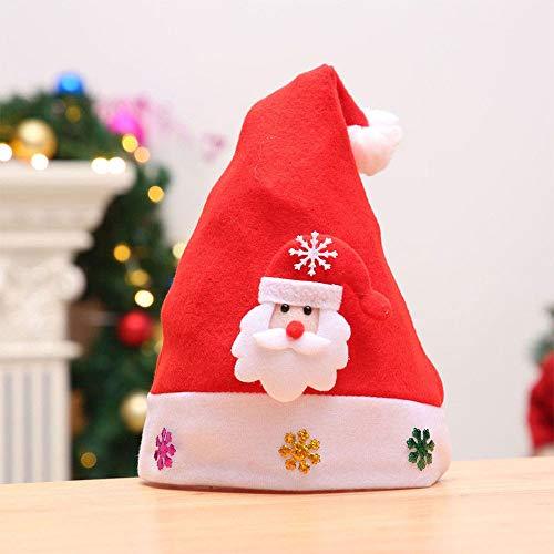 ChenCheng Chapeau de Noël - Décorations de Noël Chapeau de Noël Chapeau à LED Mignon Old Man Bonhomme de Neige Elk Hat Enfants Nouvel an Cadeau de Noël Bonnet Lumineux Fournitures de Vacances