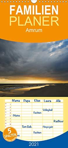 Amrum - Familienplaner hoch (Wandkalender 2021, 21 cm x 45 cm, hoch)