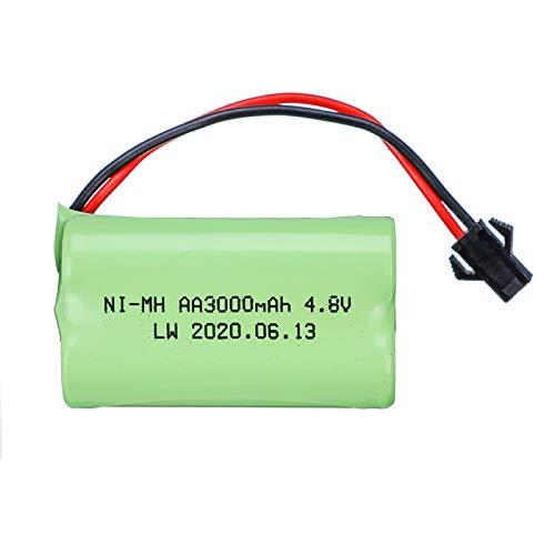 Batería de 4.8v 3000mah para la batería Recargable de los Barcos de los Robots de los Coches de los Juguetes de RC 4.8v JST