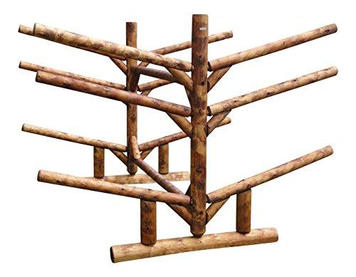 Log Kayak Rack Low 4 Kayak Plus 2 SUP Rack Canyon Brown