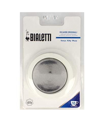 Bialetti, Edelstahl, rostfrei, schwarz/INOX, 19x12.5x0.2 cm