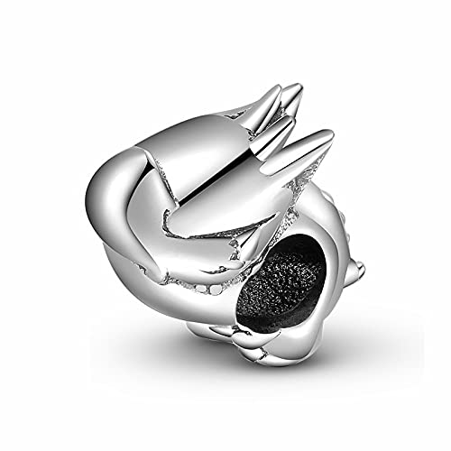 LISHOU Happy Messenger Little Monster Little Devil Animals Cuentas De Plata 925 Fit Pandora Charms Pulsera Collar DIY Joyería De Mujer D3