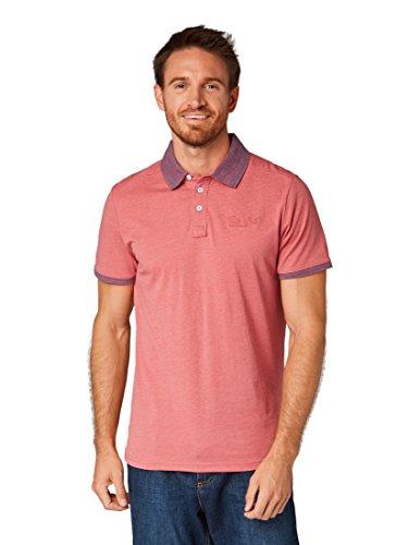 TOM TAILOR für Männer Poloshirts Poloshirt in Melange-Optik Slate Rose, L