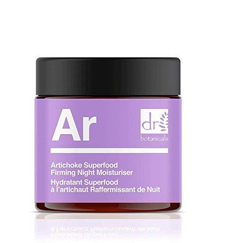 Dr Botanicals Artichoke Superfood - Crema hidratante para la noche, 100% vegano, cuidado de la piel
