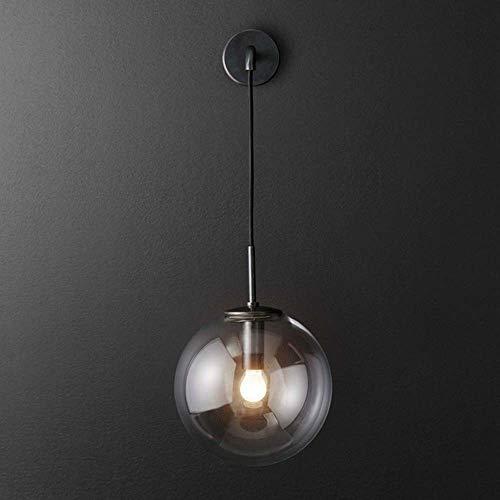De enige goede kwaliteit Decoratie Nordic Post-moderne Wandlamp Corridor Aisle Restaurant Cafe Slaapkamer Bedlampje Creatieve Persoonlijkheid Glas Verstelbare Bal Lamp E14