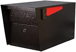 Mail Boss 7506 Mail Manager Locking Security Mailbox, Black (Renewed)