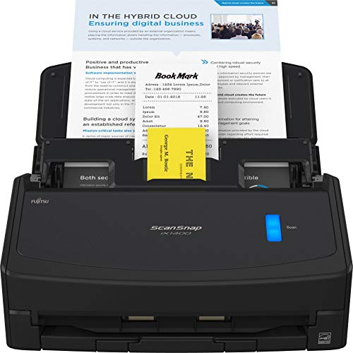 Fujitsu ScanSnap iX1400 Simple One-Touch Button Document Scanner for Mac or PC, Black