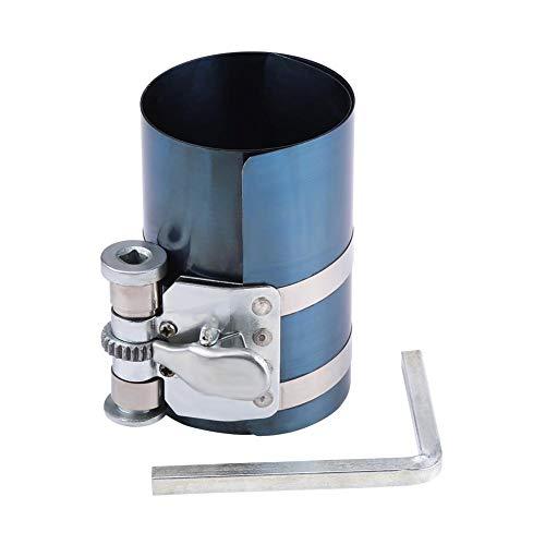 Herramienta de anillo de pistón, herramienta de trinquete de banda de instalador de compresor de anillo de pistón de motor de coche(4in)