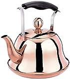 SJMFGF Stainless Steel Stovetop Whistling Tea Kettle 2 Liter Induction/Gas Stove Top Tea Pot Copper Teakettle Teapot Maker Water Boiling