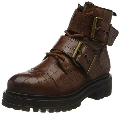 Buffalo Damen MIMI Mode-Stiefel, Croco Cognac, 36 EU
