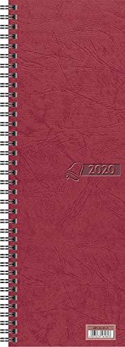 Glocken Tisch-, Umlegekalender Vormerkbuch 1 Woche = 2 Seiten 100 x 296 mm Karton, roter Einband (1)
