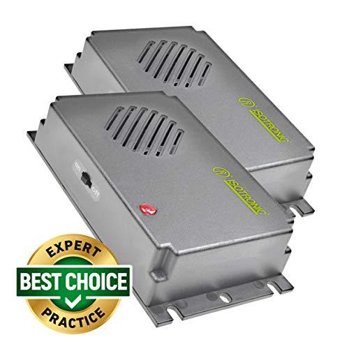 ISOTRONIC Dissuasore a ultrasuoni per topi e ratti, mobile, alimentazione a batteria...