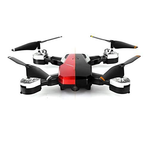 XUCHEN 360-Grad-Flip-Drohne mit Kamera, Geeignet für Kinder Erwachsene Geschenke, Wireless-LAN Real-Time Video Gyroskop Flugzeug ist die Beste Drone für Anfänger,Rot