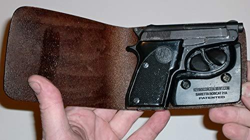 Wallet Holster for Full Concealment - Beretta Bobcat 21A (Black, Right Hand)