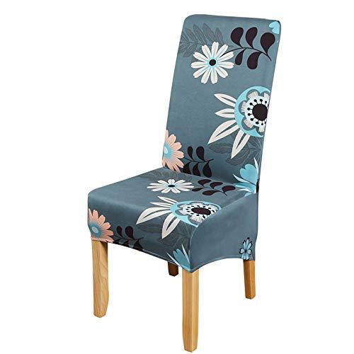Große graue Stuhlbezüge, Stretch-Stuhlhussen für Esszimmerstühle, elastisch, abnehmbar, waschbar, Stuhlschoner für Esszimmer, Hotel, Bankett, Zeremonie (Multi-367, 4 Stück)